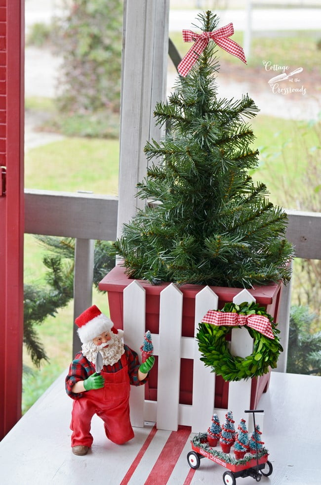 gardening Santa | Cottage at the Crossroads