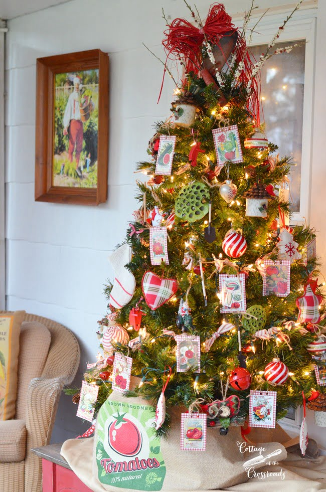 Country Cottage Christmas Front Porch | Cottage at the Crossroads