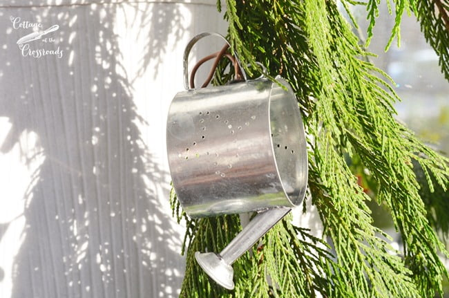 watering can lighted garland