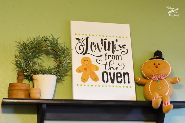 LOvin' from the Oven Stenciled Sign