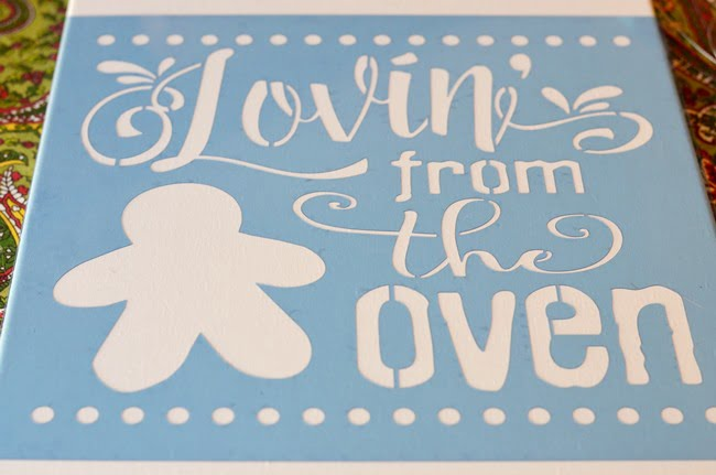 Lovin' from the Oven stencil from The Stencilsmith