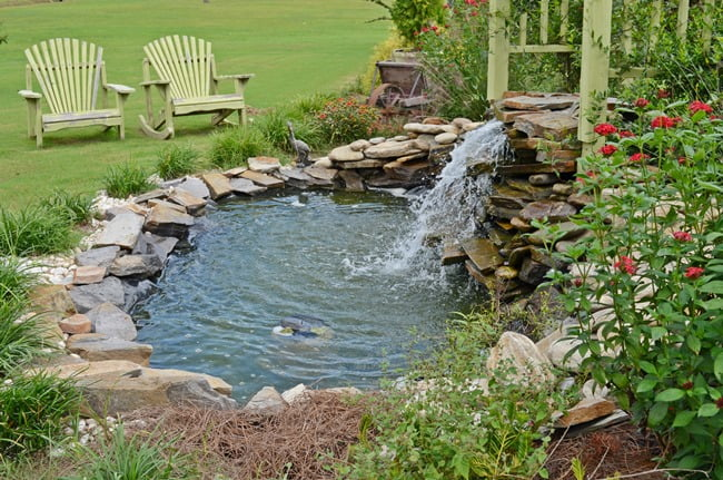 DIY Garden Waterfall | Cottage at the Crossroads