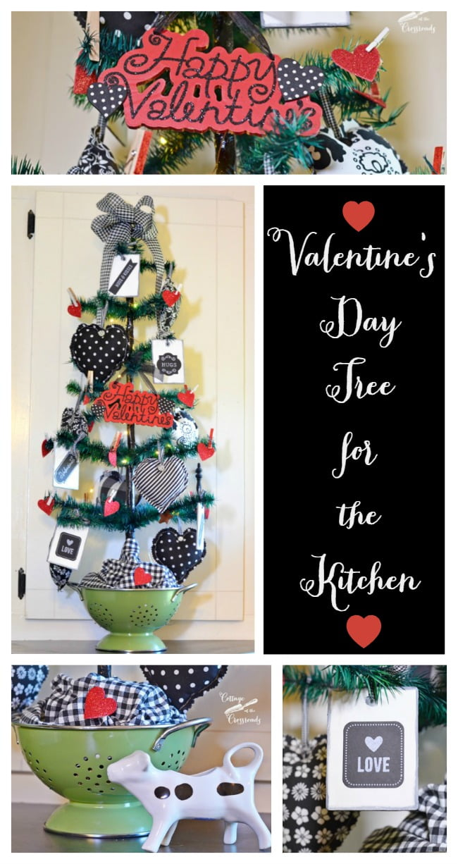 A Valentine S Day Tree For The Kitchen Cottage At The Crossroads