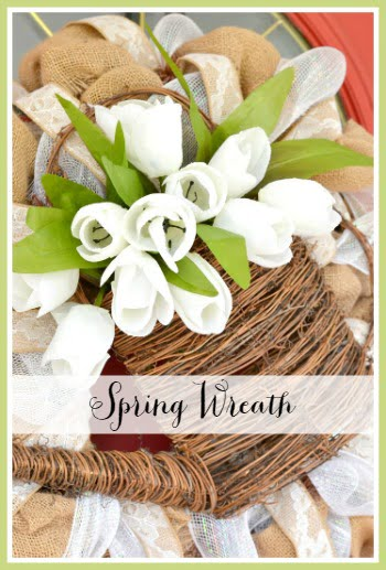 a neutral spring wreath