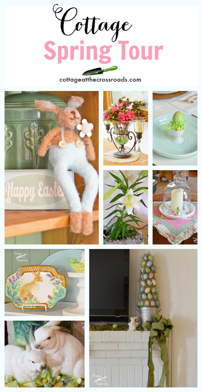Come take a tour of our cottage all decorated for spring!