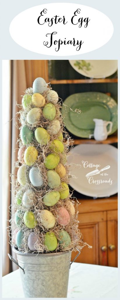 Easy to make DIY Easter egg topiary | Cottage at the Crossroads