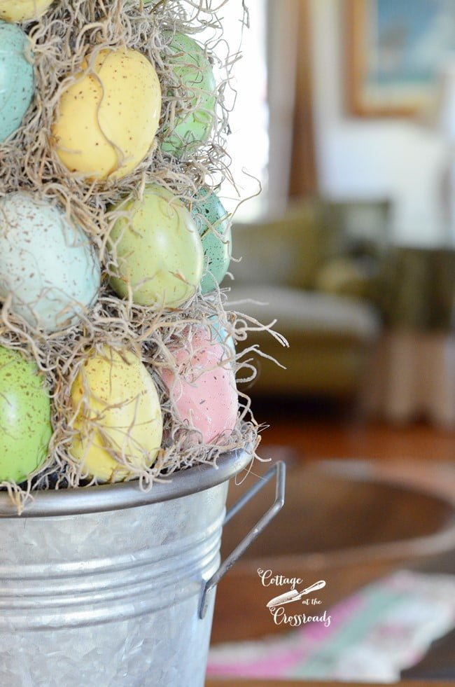 Easter egg topiary tree | Cottage at the Crossroads