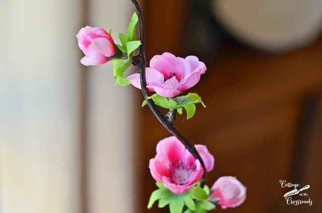 faux quince blossoms