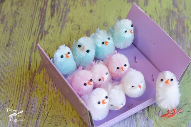 fuzzy birds for the Easter tree