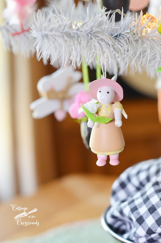 bunny ornament for the Easter tree