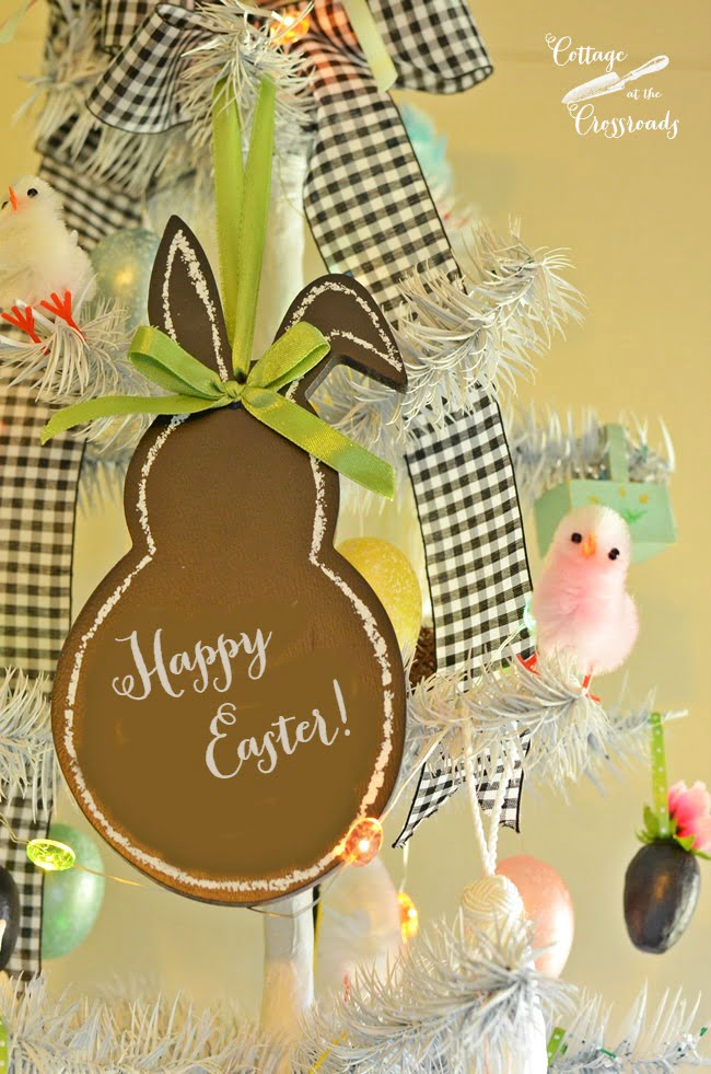 bunny ornament on an Easter tree