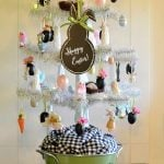 decorated Easter tree