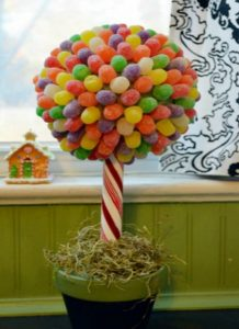 how to make a gumball topiary