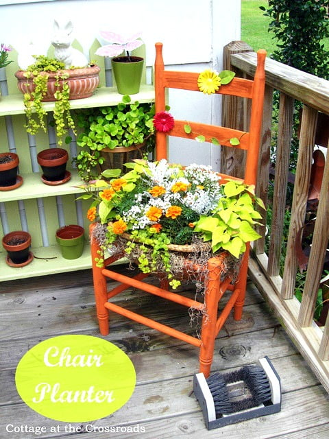thrifty chair planter