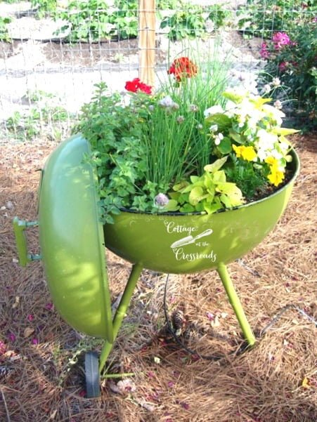 Don't throw away your old grill-make it into a planter!