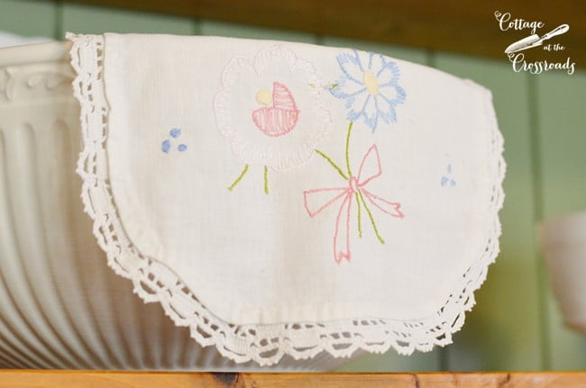 embroidery work | Cottage at the Crossroads