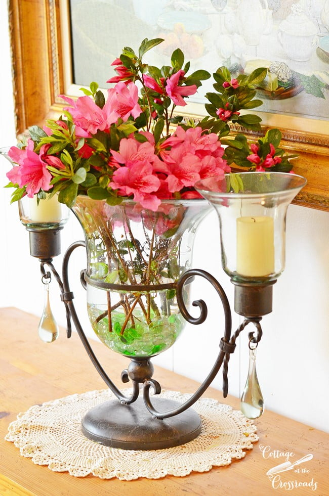 azalea arrangement | Cottage at the Crossroads