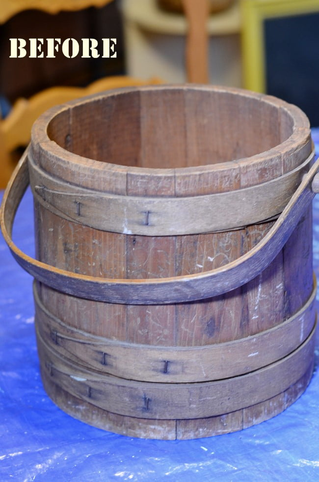 wooden firkin bucket
