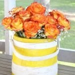 Painted Wooden Firkin Bucket