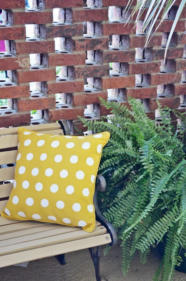 painted polka dot pillow