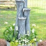 galvanized tub fountain and planter | Cottage at the Crossroads