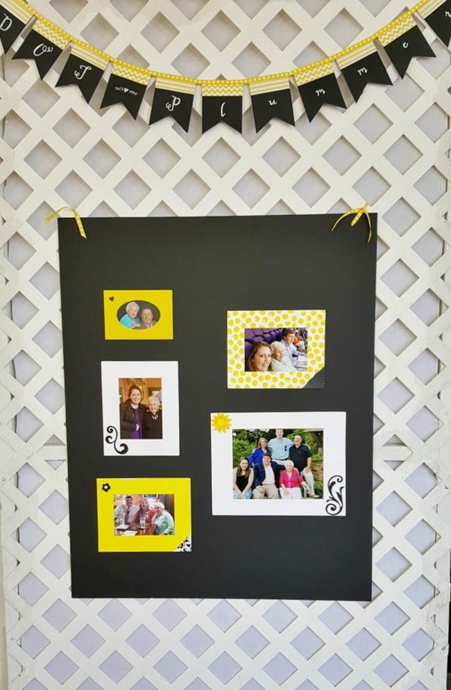 photo display at the Civitan Golf Benefit Party