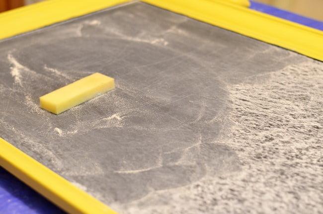 seasoning a new chalkboard