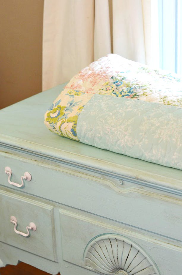 painted cedar chest | Cottage at the Crossroads