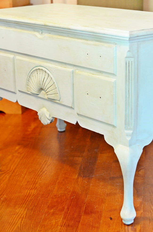 cedar chest painted and waxed | Cottage at the Crossroads