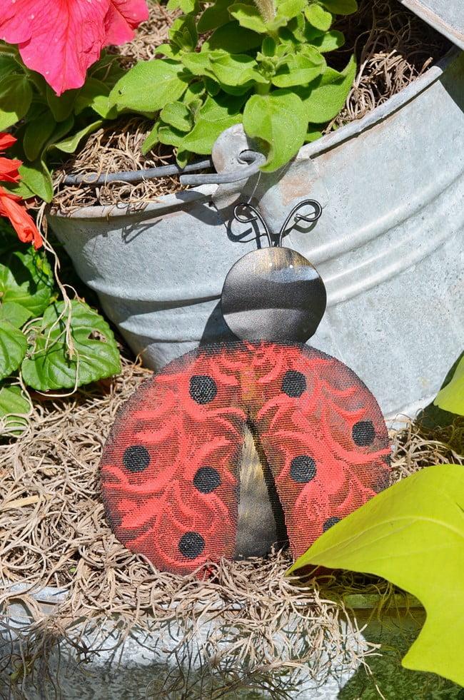 ladybug garden ornament