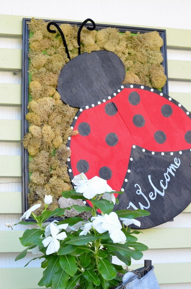 wooden ladybug sign | Cottage at the Crossroads