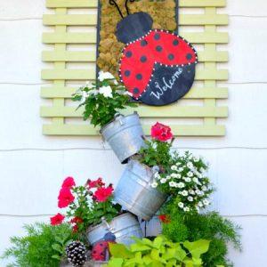 Summer Topsy Turvy Planter
