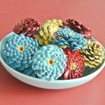 How to Make Pine Cone Zinnias