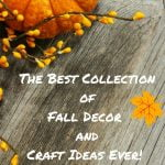 Huge collection of fall decor and craft ideas