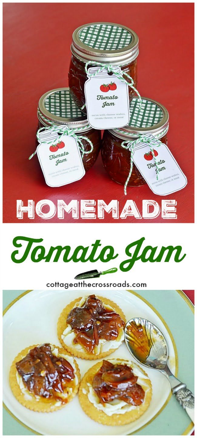 tomato jam jar labels
