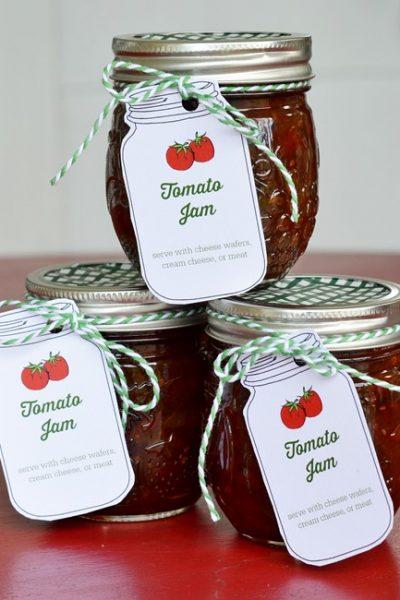 Delicious, homemade tomato jam