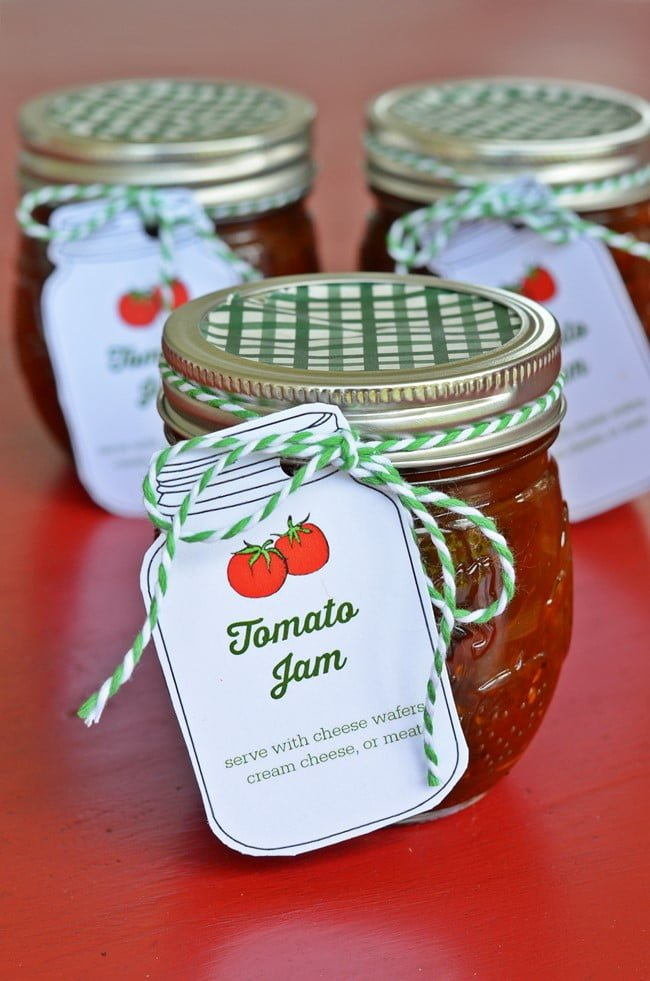 Delicious sweet and savory tomato jam! You can make it all year with cherry tomatoes!
