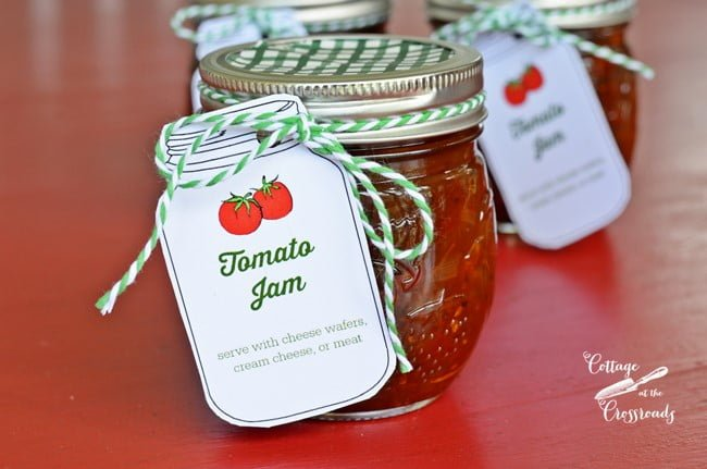 This sweet and savory homemade tomato jam is a surprise to everyone who tastes it.! Made with cherry tomatoes and doesn't have to be processed unless you want to do so.