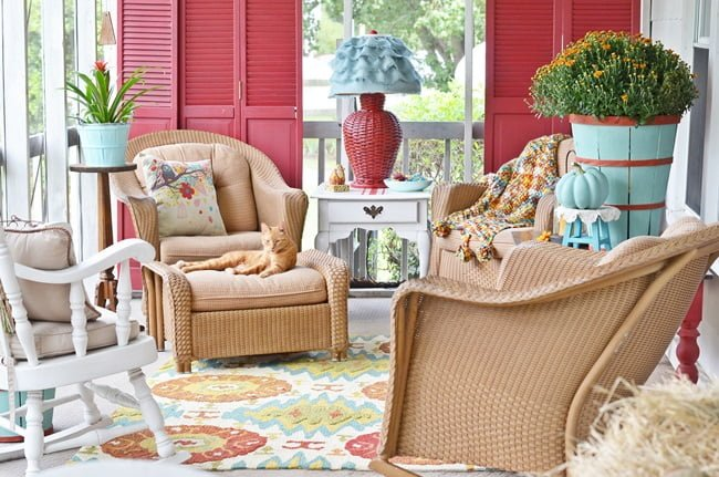Fall Porch at Cottage at the Crossroads
