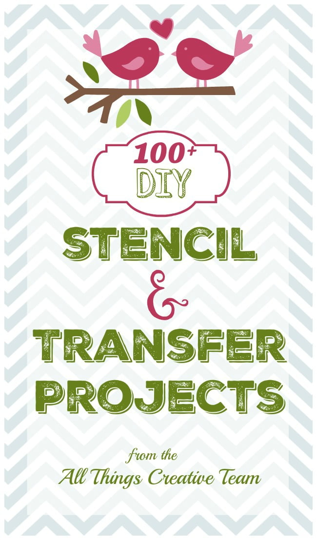 Large collection of stencil and transfer projects-a little something here for everyone!