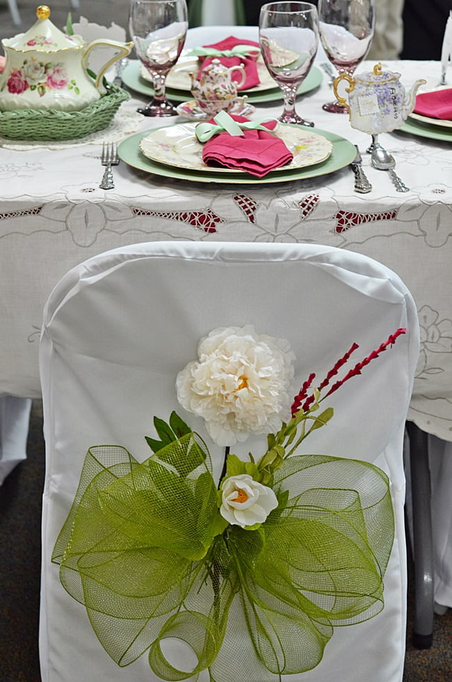 chair covers at a fundraiser