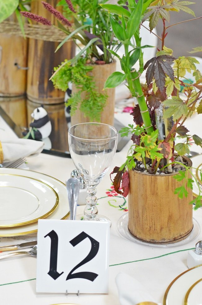 nature inspired tablescape