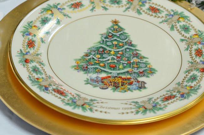 Lenox Christmas Tree plates