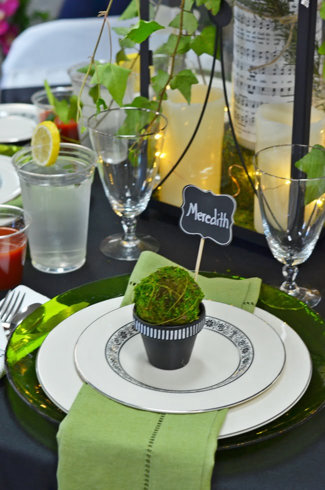 In the Garden themed tablescape