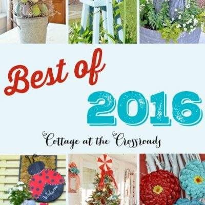 Best DIY Projects of 2016 from Cottage at the Crossroads