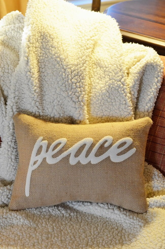 peace pillow | Cottage at the Crossroads