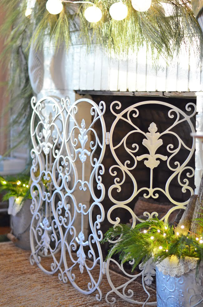 painted fireplace screen | Cottage at the Crossroads