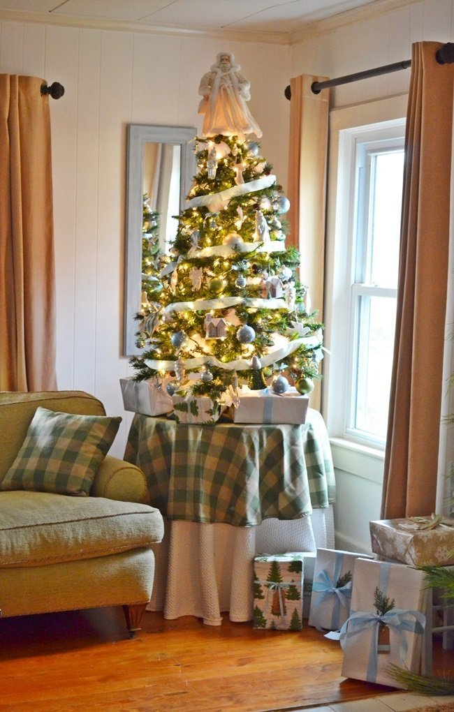 blue and green Christmas tree | Cottage at the Crossroads