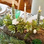 Yule Log Tablescape from Cottage at the Crossroads