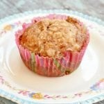 Apple Banana Pecan Muffins with Streusel Topping | Cottage at the Crossroads